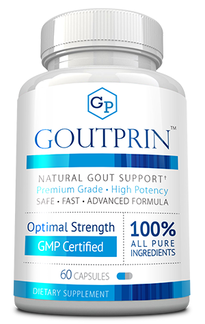 Goutprin ingredients bottle